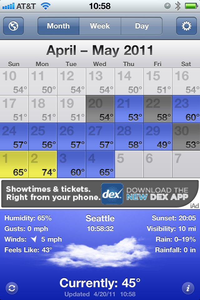 Finding a Good Weather App for the iPhone – The Brooks Review